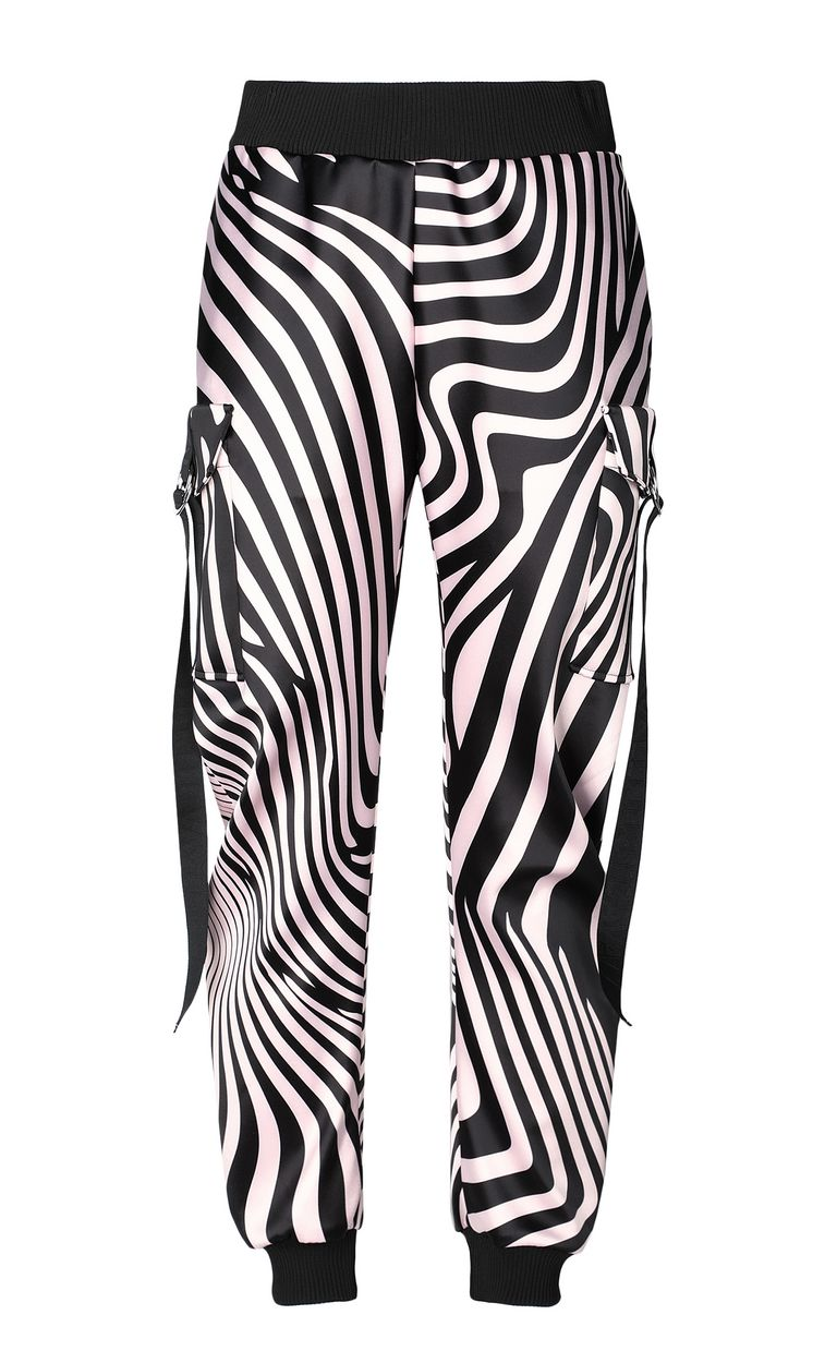 JUST CAVALLI Trousers with Zebra-Waves print Casual pants Woman f