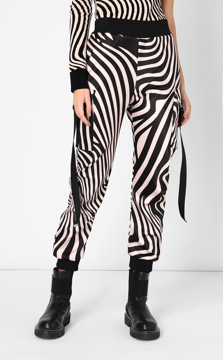 JUST CAVALLI Trousers with Zebra-Waves print Casual pants Woman r