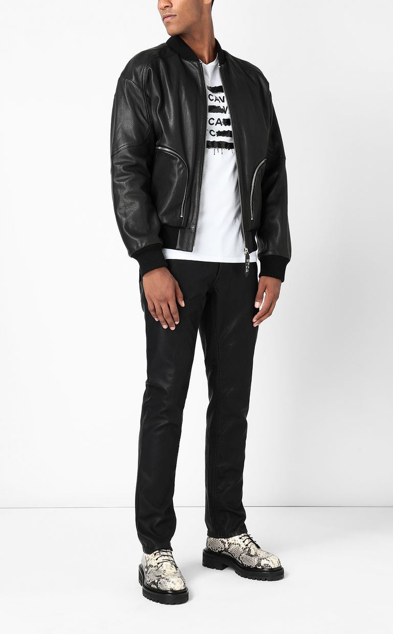 JUST CAVALLI Leather-effect jeans Leather pants Man d