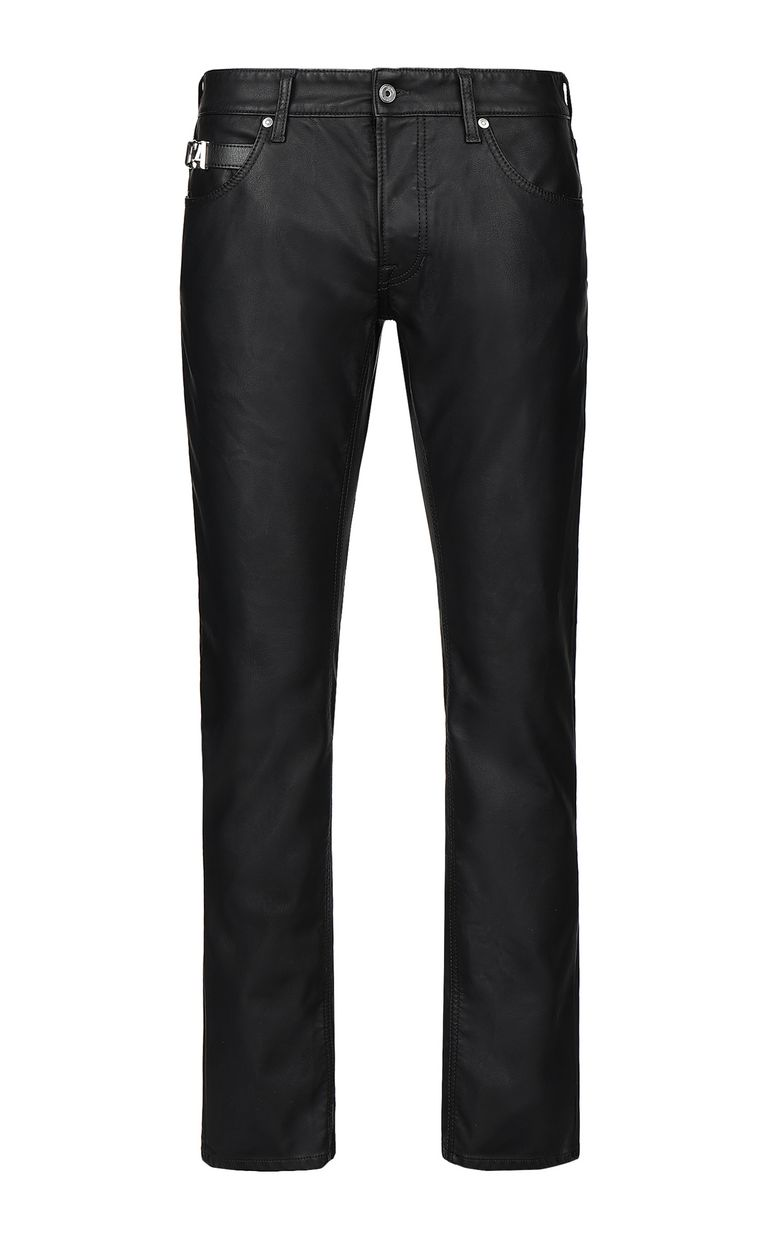 JUST CAVALLI Leather-effect jeans Leather pants Man f