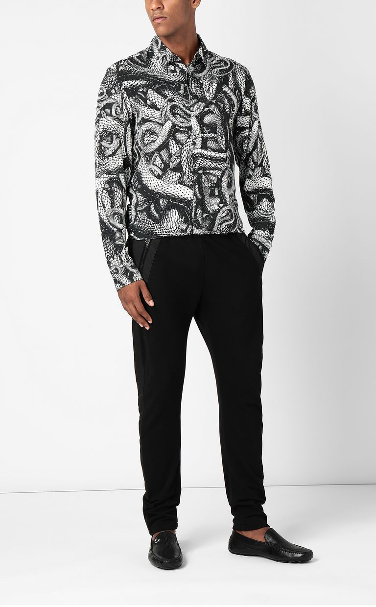 JUST CAVALLI Trousers with hi-tech inserts Casual pants Man d