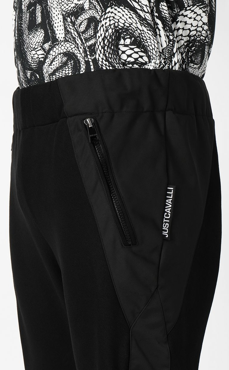 JUST CAVALLI Trousers with hi-tech inserts Casual pants Man e