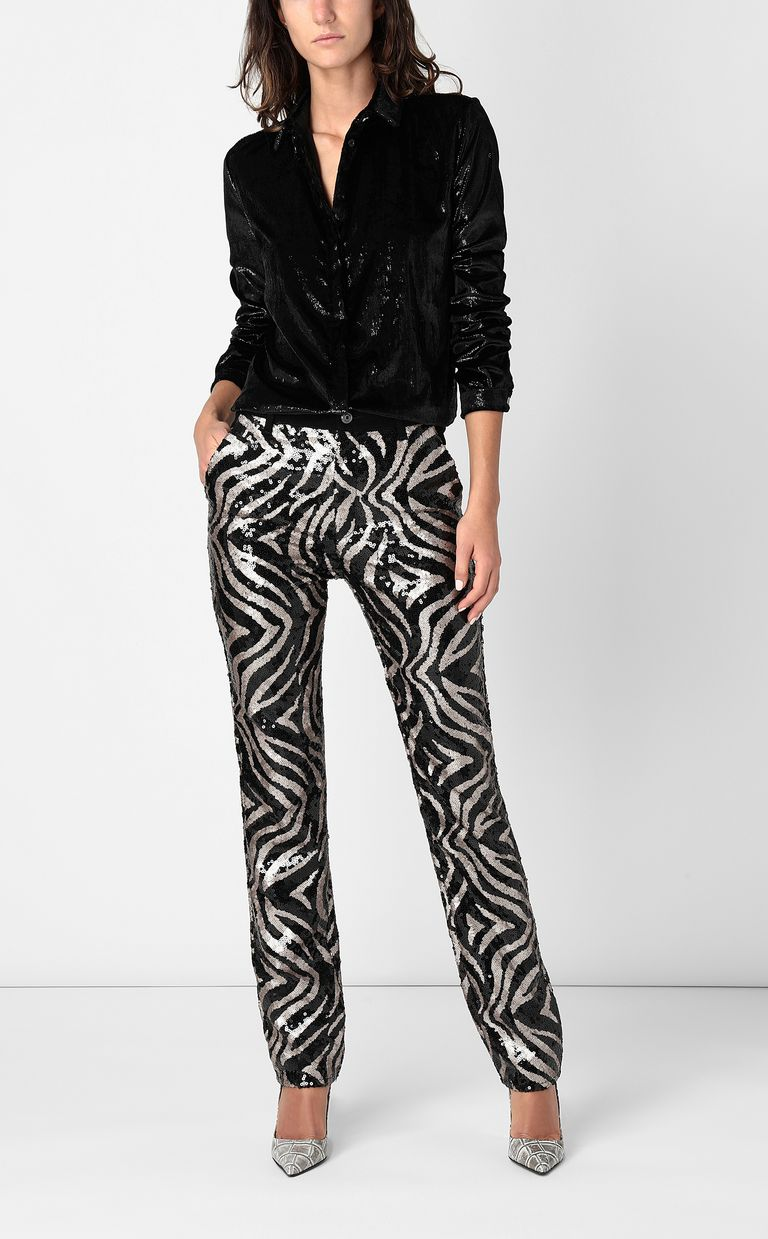 JUST CAVALLI Sequinned trousers Casual pants Woman d