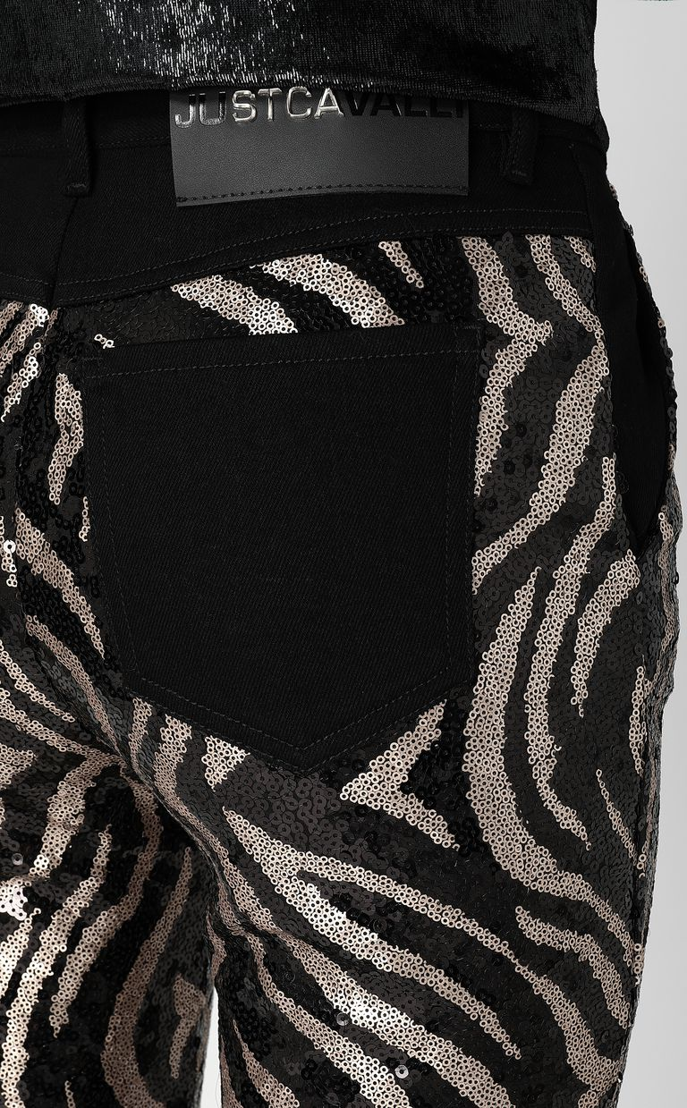 JUST CAVALLI Sequinned trousers Casual pants Woman e