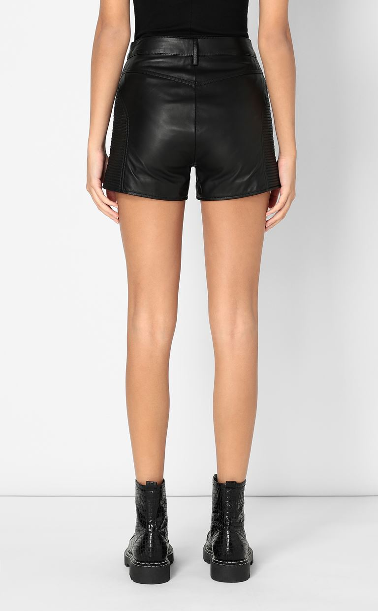 JUST CAVALLI Leather shorts Shorts Woman a