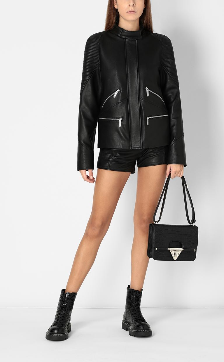 JUST CAVALLI Leather shorts Shorts Woman d