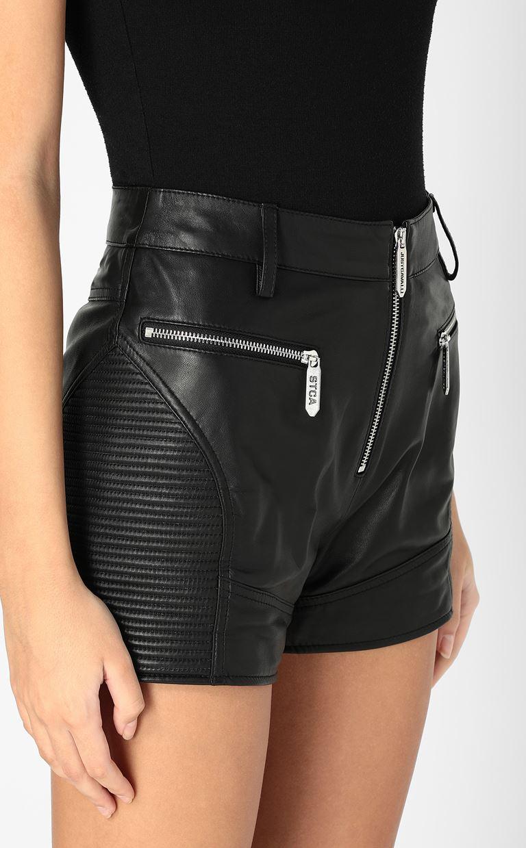 JUST CAVALLI Leather shorts Shorts Woman e