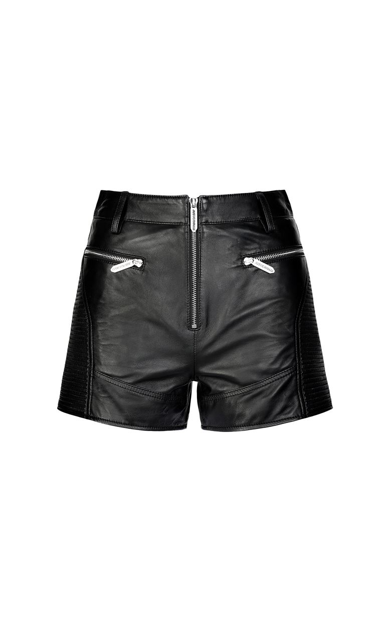 JUST CAVALLI Leather shorts Shorts Woman f