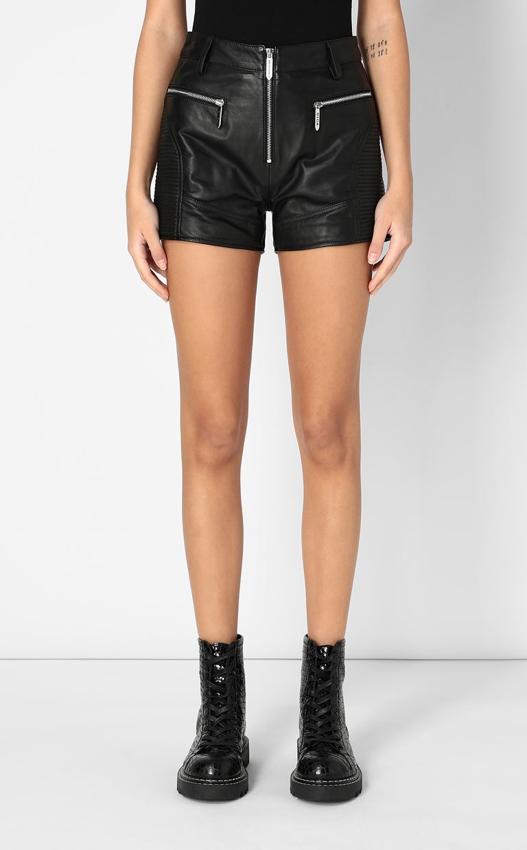 JUST CAVALLI Leather shorts Shorts Woman r