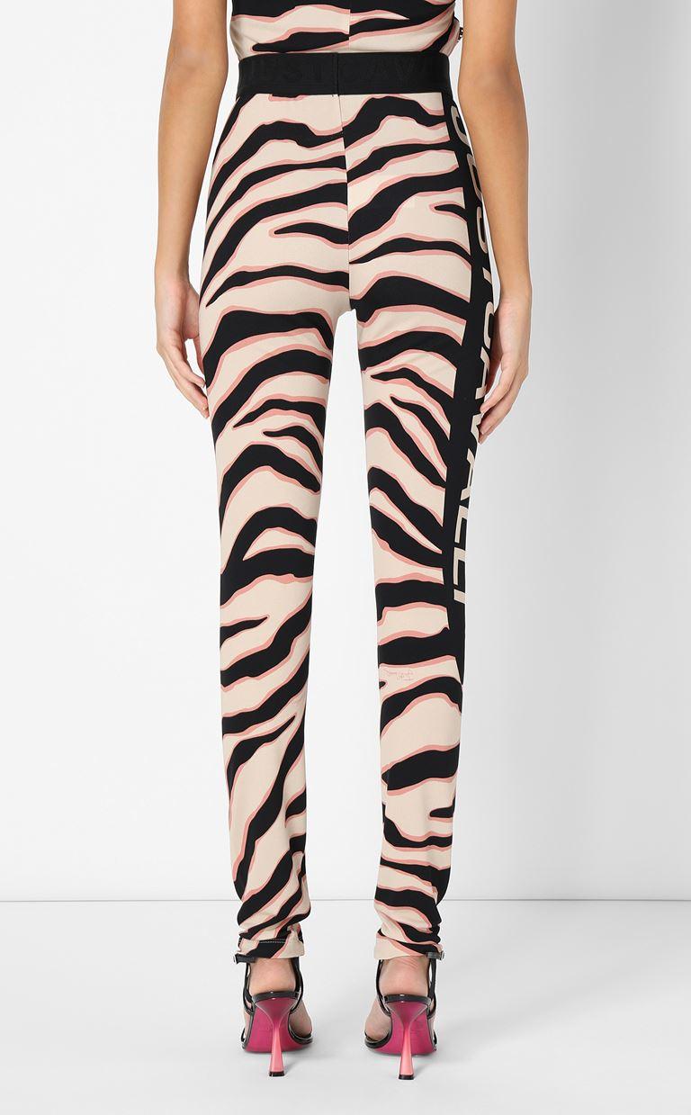 JUST CAVALLI Leggings with zebra-stripe pattern Leggings Woman a