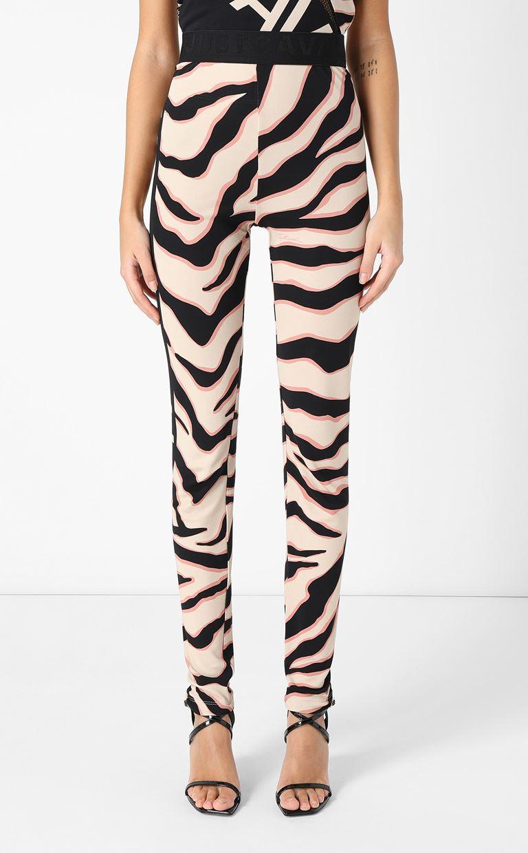 JUST CAVALLI Leggings with zebra-stripe pattern Leggings Woman r