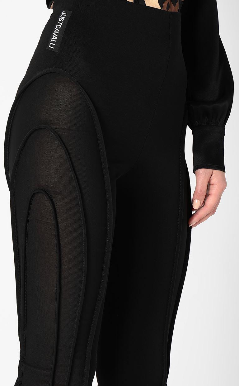 JUST CAVALLI Leggings with ribbed detailing Leggings Woman e