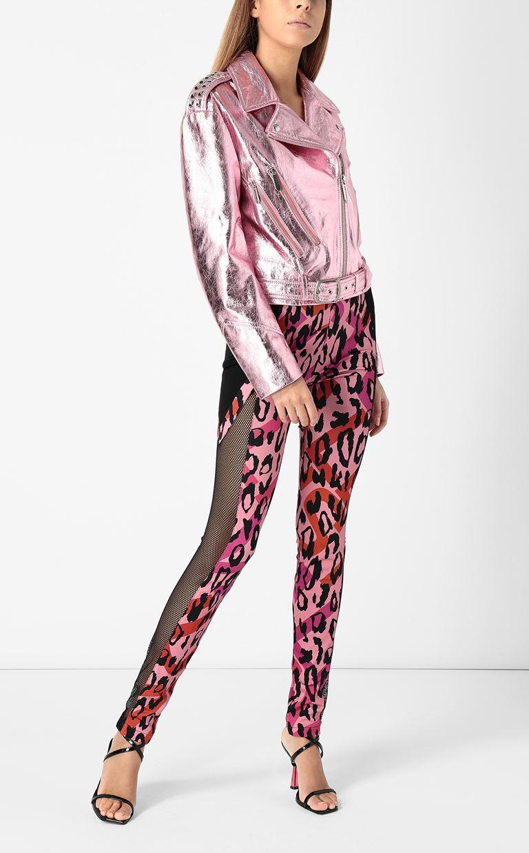 JUST CAVALLI Leggings with leopard-spot print Casual pants Woman d