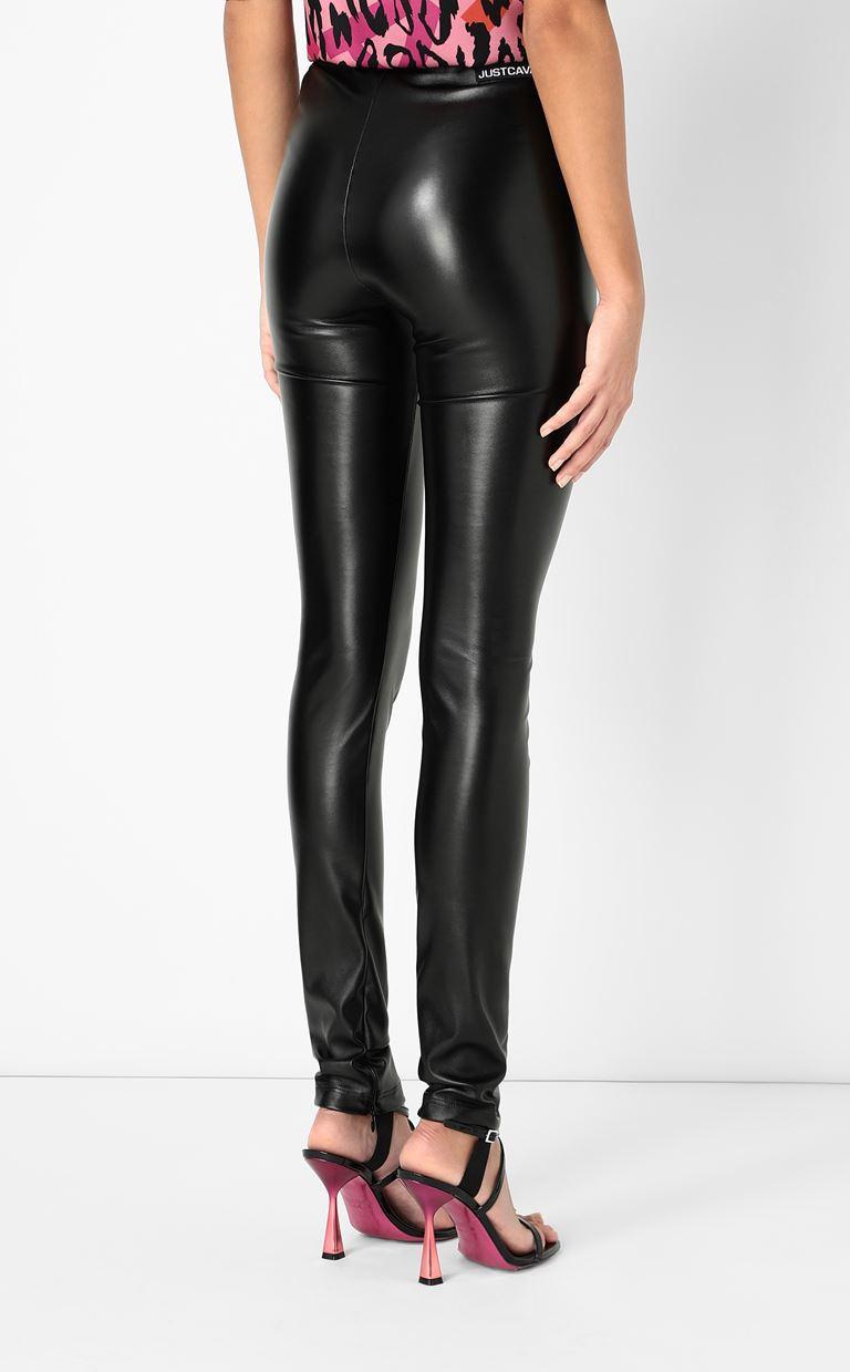 JUST CAVALLI Leggings in a hi-sheen fabric Leggings Woman a