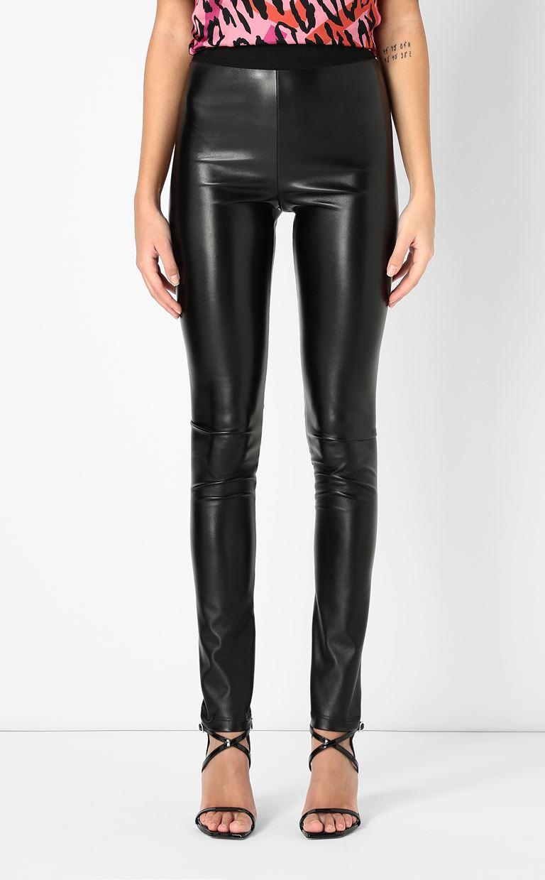 JUST CAVALLI Leggings in a hi-sheen fabric Leggings Woman r