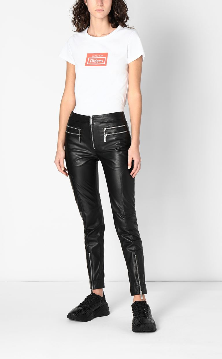 JUST CAVALLI Leather trousers Leather pants Woman d