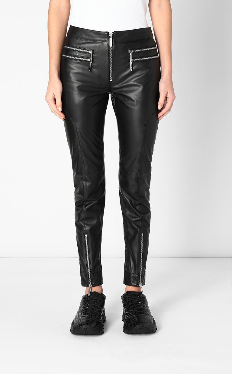 JUST CAVALLI Leather trousers Leather pants Woman r