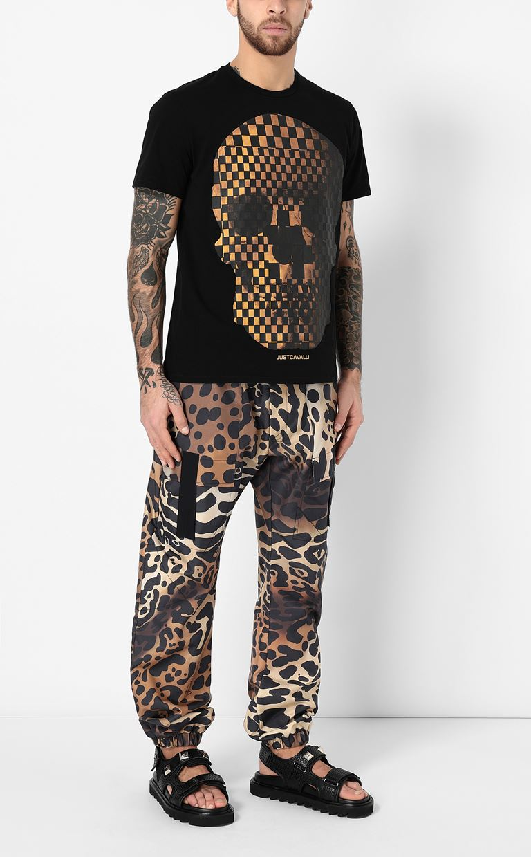JUST CAVALLI Trousers with leopard-spot print Casual pants Man d