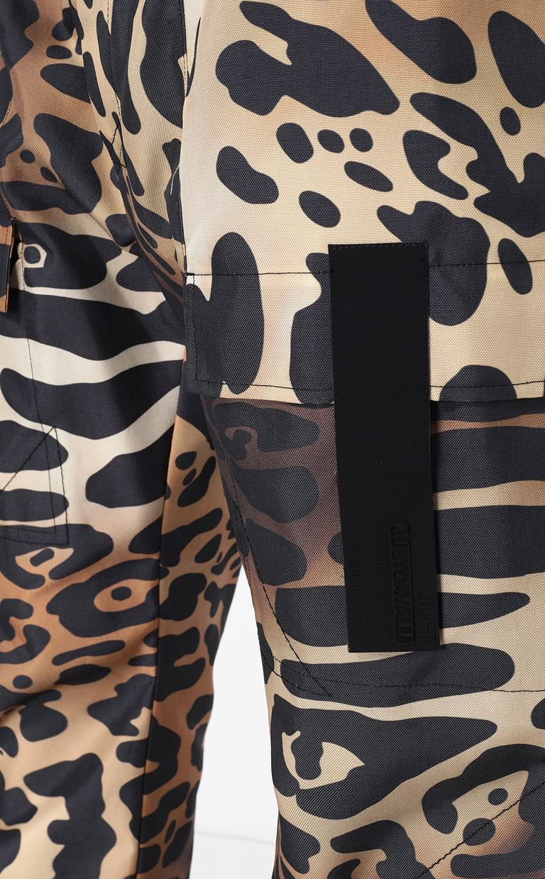 JUST CAVALLI Trousers with leopard-spot print Casual pants Man e