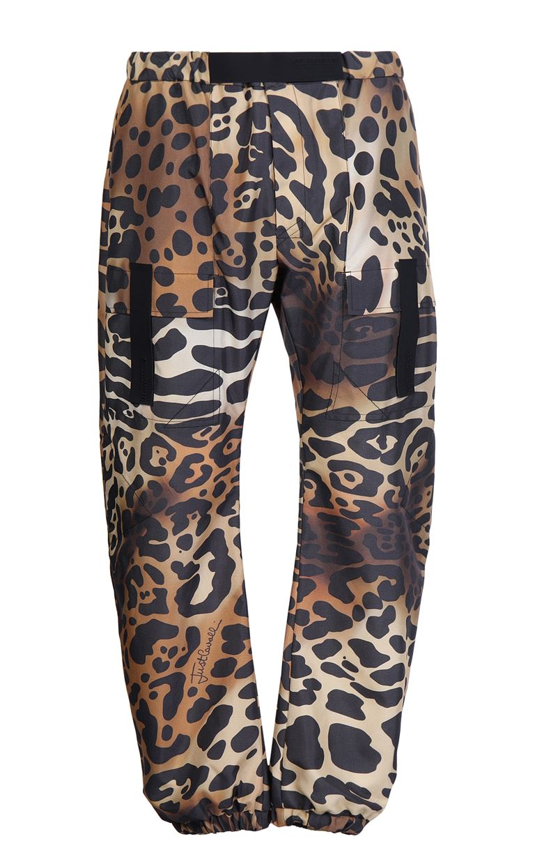 JUST CAVALLI Trousers with leopard-spot print Casual pants Man f