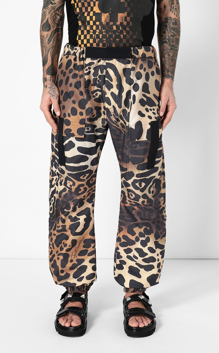 JUST CAVALLI Trousers with leopard-spot print Casual pants Man r