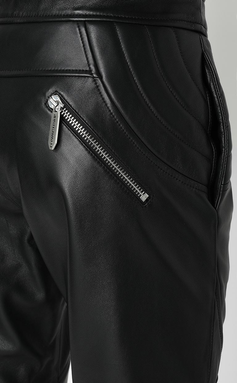 JUST CAVALLI Leather trousers Leather pants Man e