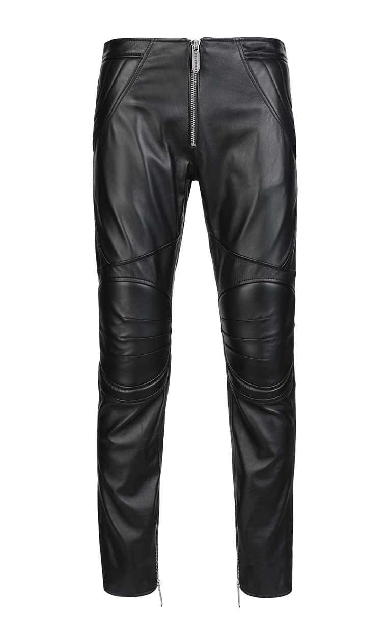 JUST CAVALLI Leather trousers Leather pants Man f