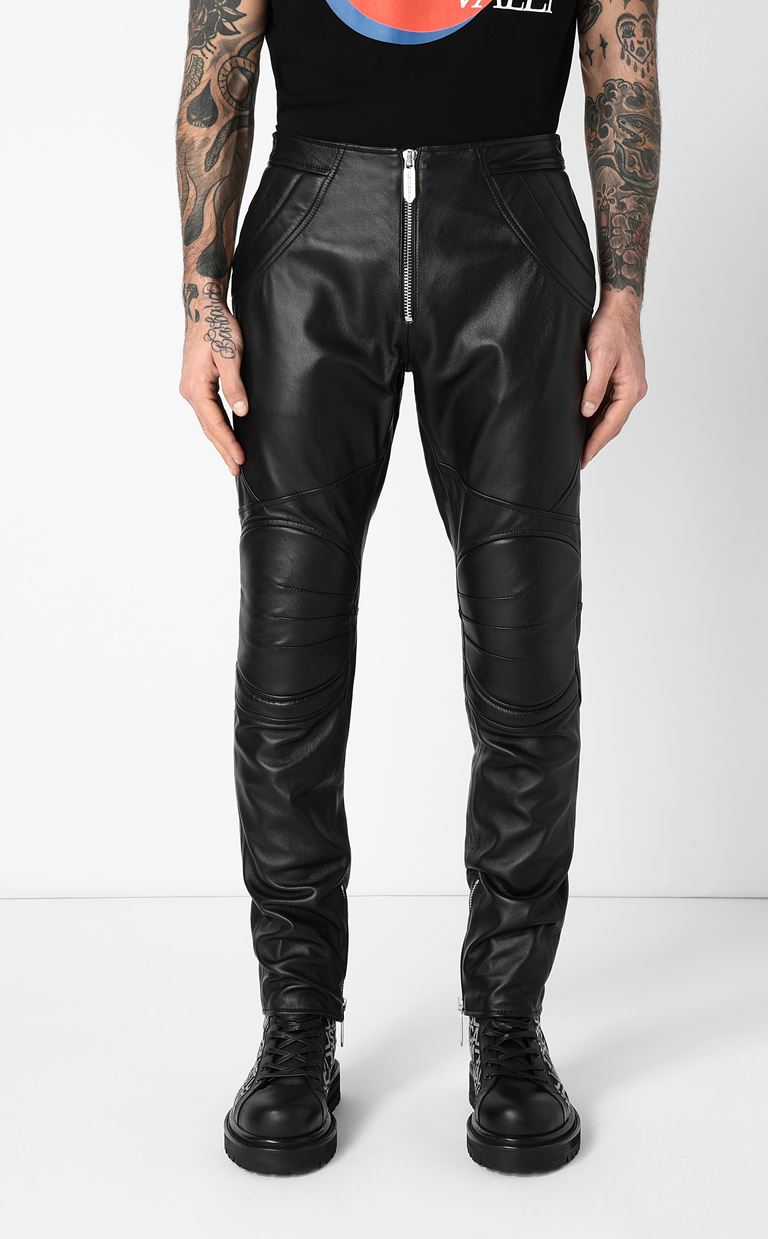JUST CAVALLI Leather trousers Leather pants Man r
