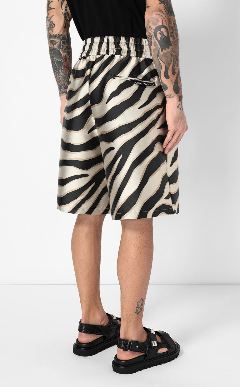 JUST CAVALLI Bermuda shorts with zebra stripes Shorts Man a