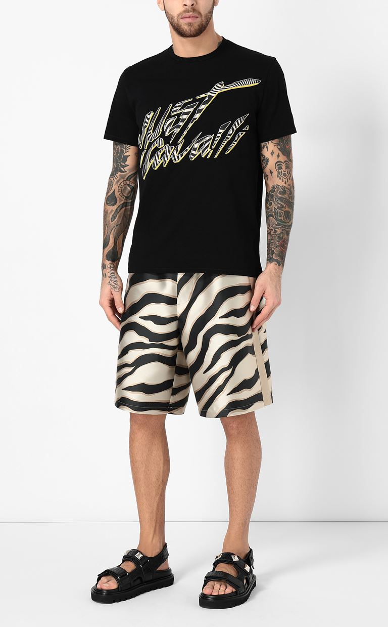 JUST CAVALLI Bermuda shorts with zebra stripes Shorts Man d