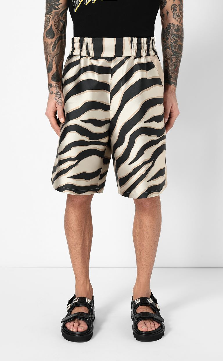 JUST CAVALLI Bermuda shorts with zebra stripes Shorts Man r