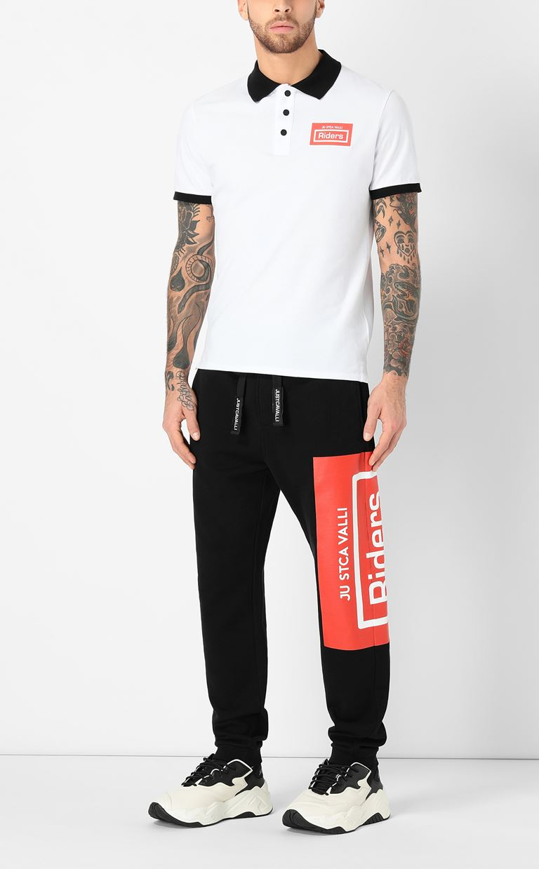 JUST CAVALLI Track pants with print design Casual pants Man d