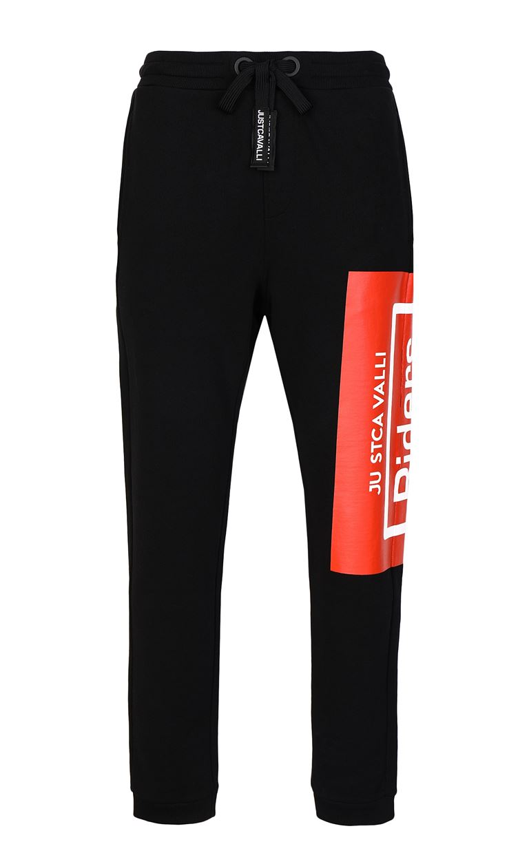 JUST CAVALLI Track pants with print design Casual pants Man f