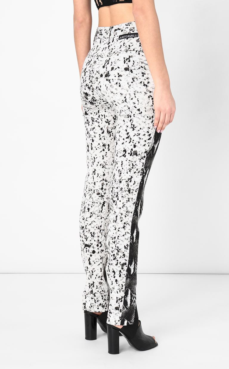 JUST CAVALLI Python-print trousers Casual pants Woman a