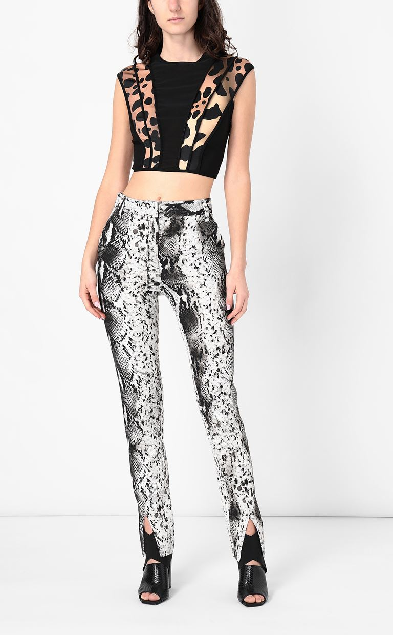 JUST CAVALLI Python-print trousers Casual pants Woman d
