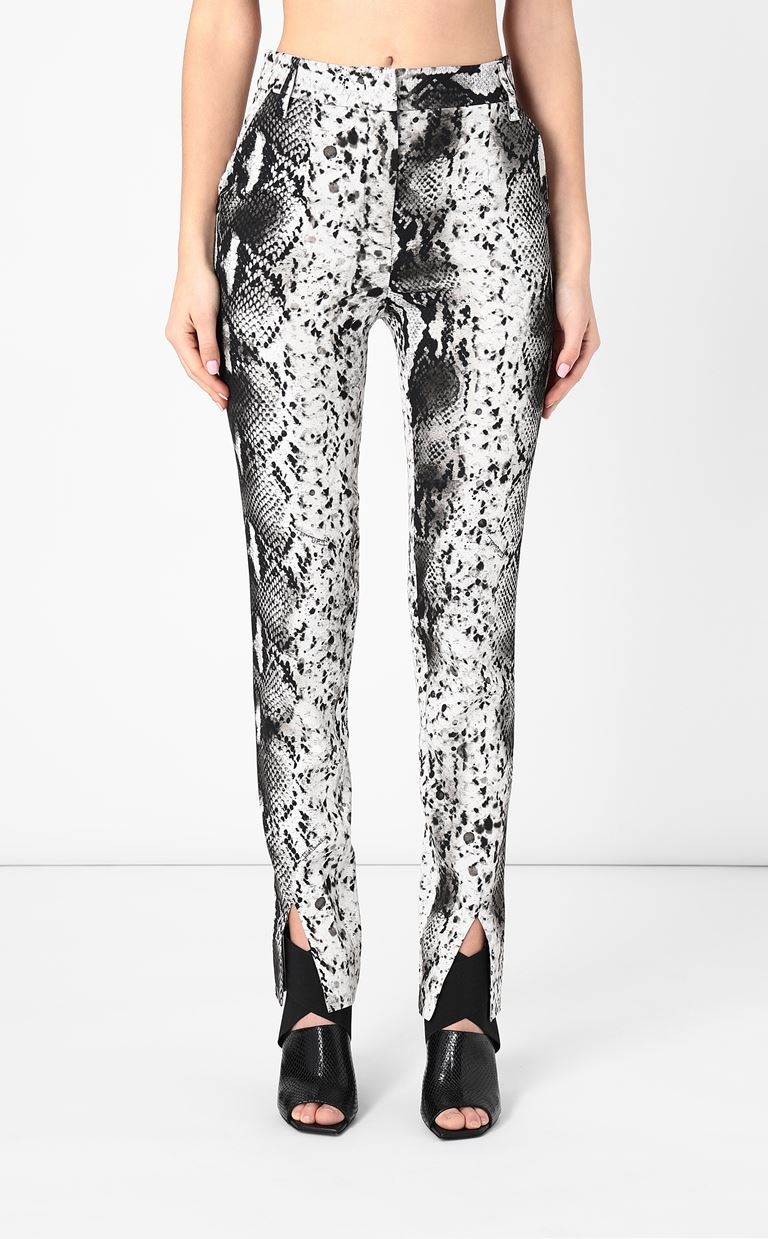JUST CAVALLI Python-print trousers Casual pants Woman r