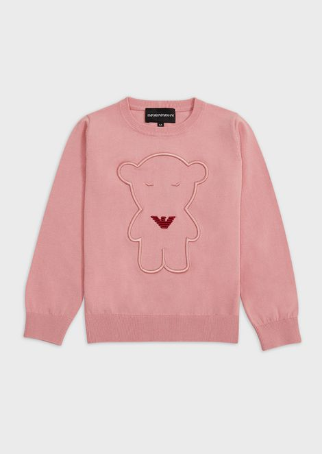 Sweater with Manga Bear embroidery