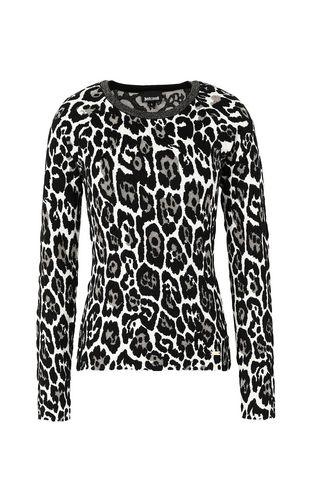 """JUST CAVALLI Cardigan Woman """"Glowing Zebra"""" print pullover f"""