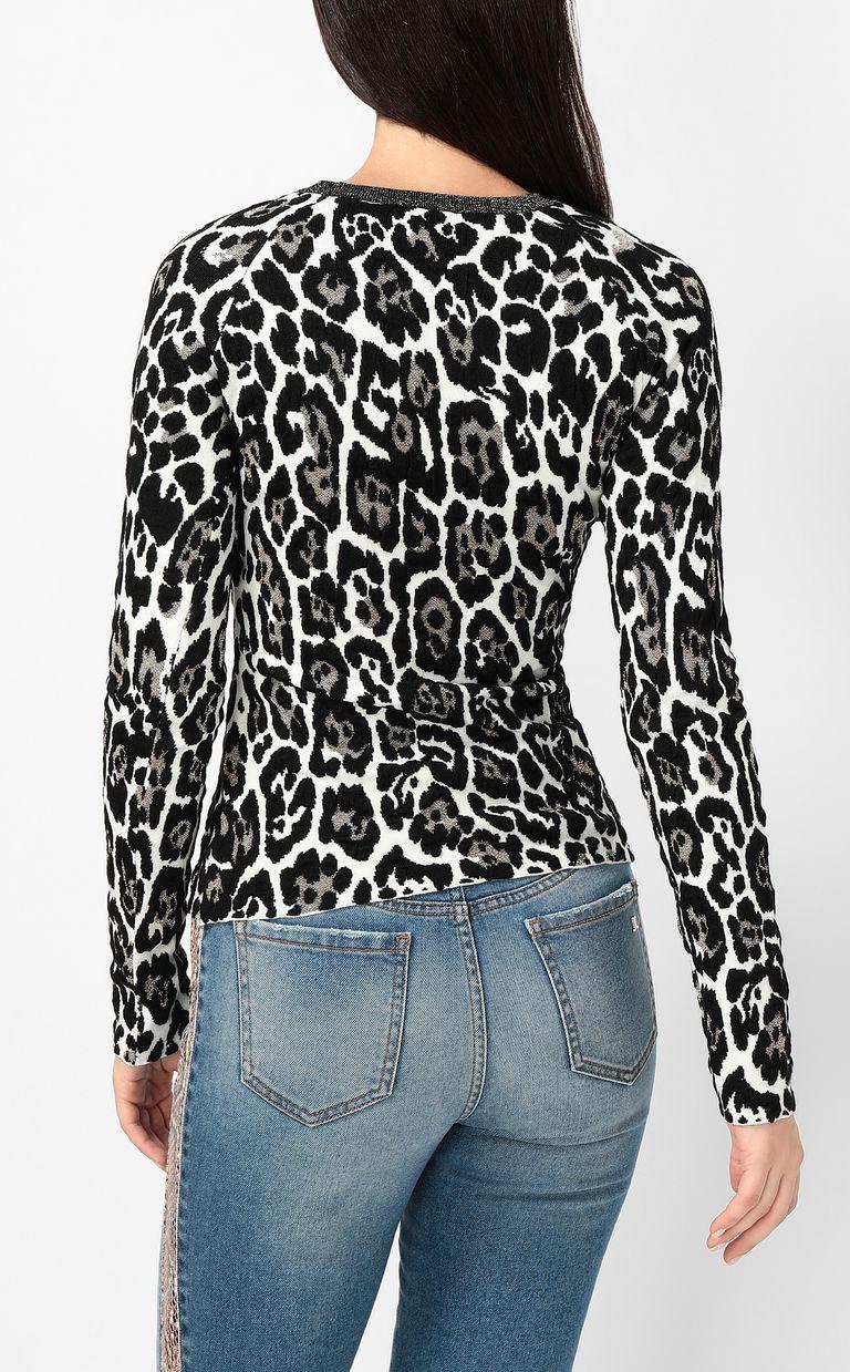 JUST CAVALLI Leopard-spot pullover Crewneck sweater Woman a