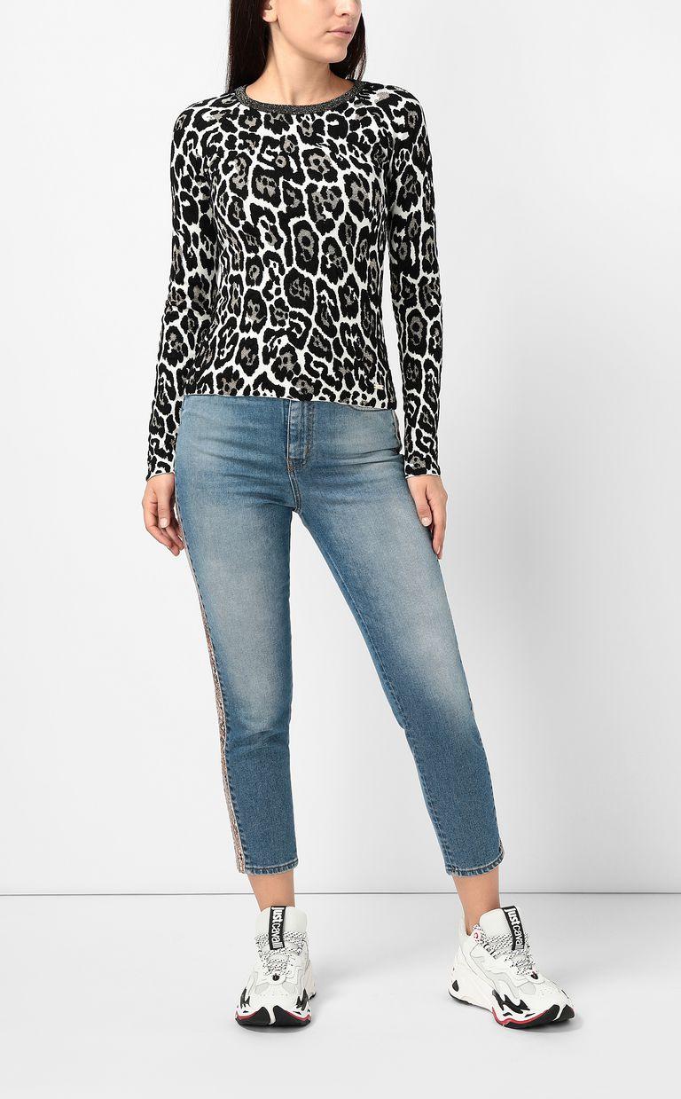 JUST CAVALLI Leopard-spot pullover Crewneck sweater Woman d