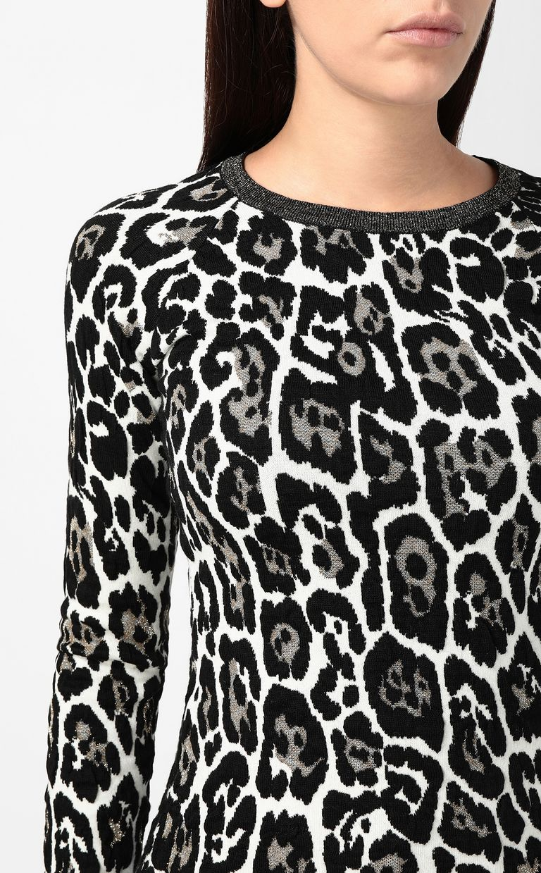 JUST CAVALLI Leopard-spot pullover Crewneck sweater Woman e