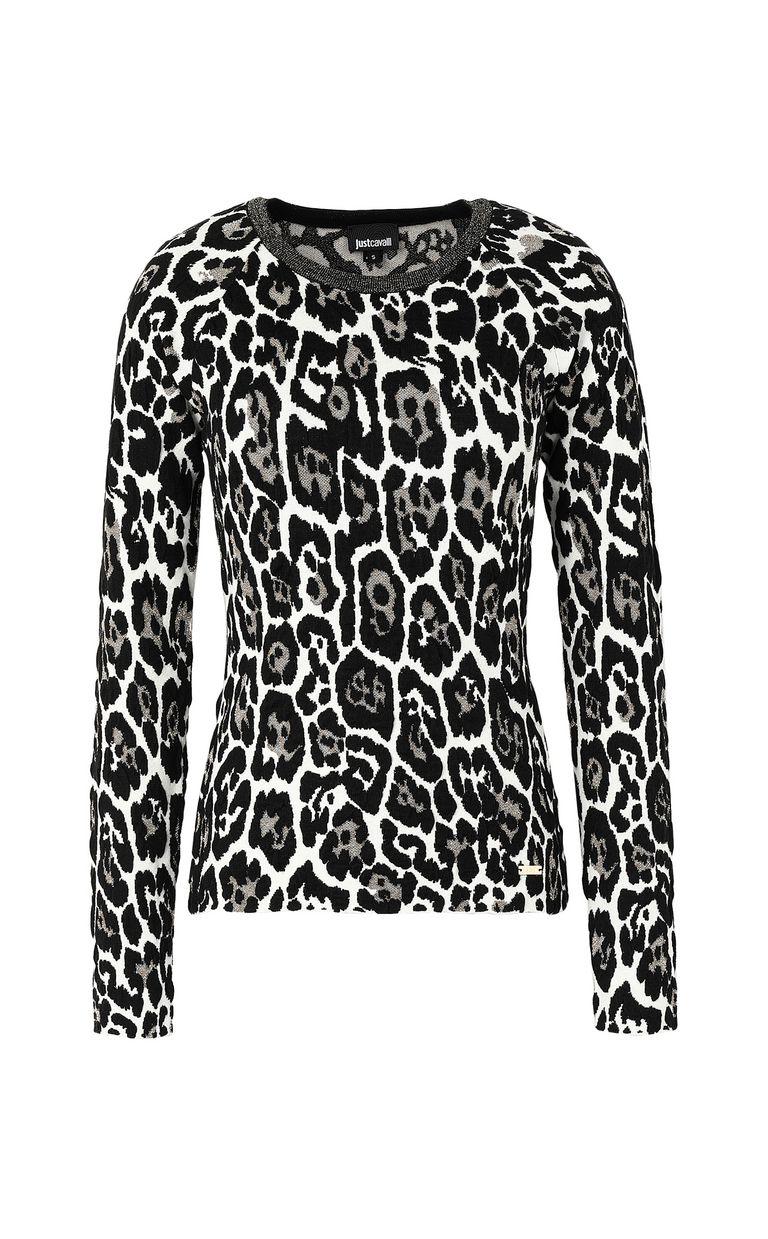 JUST CAVALLI Leopard-spot pullover Crewneck sweater Woman f