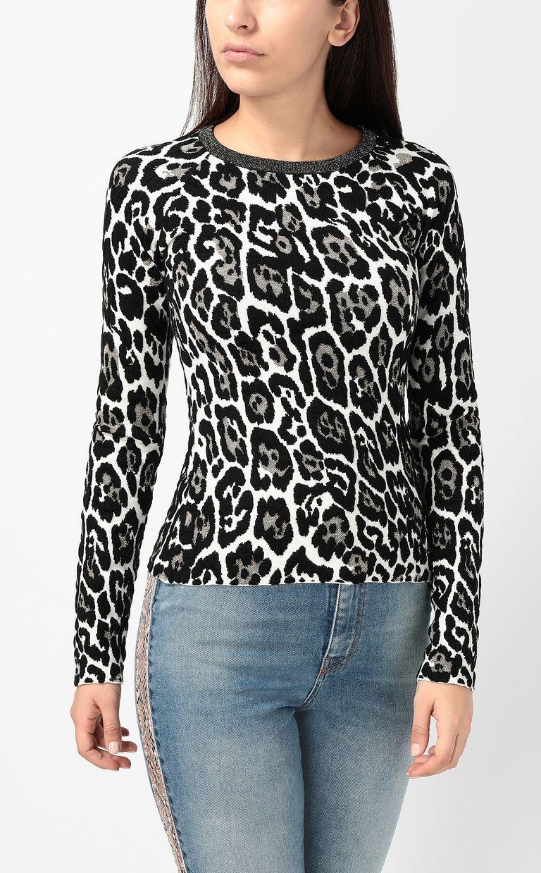 JUST CAVALLI Leopard-spot pullover Crewneck sweater Woman r