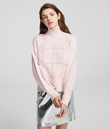 KARL LAGERFELD SOUTACHE SWEATER