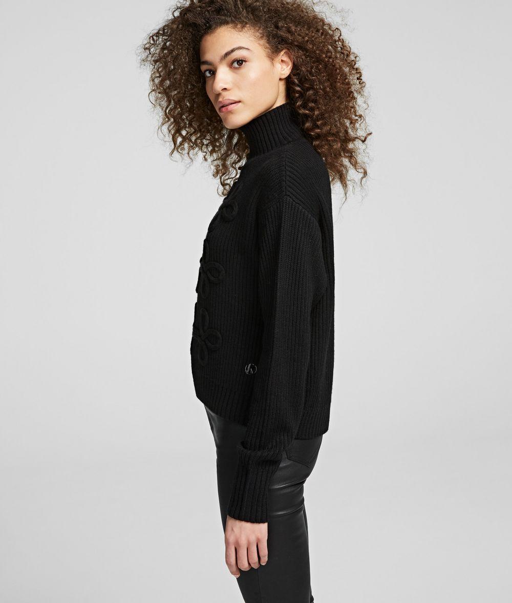 KARL LAGERFELD Soutache Design Sweater Sweater Woman d