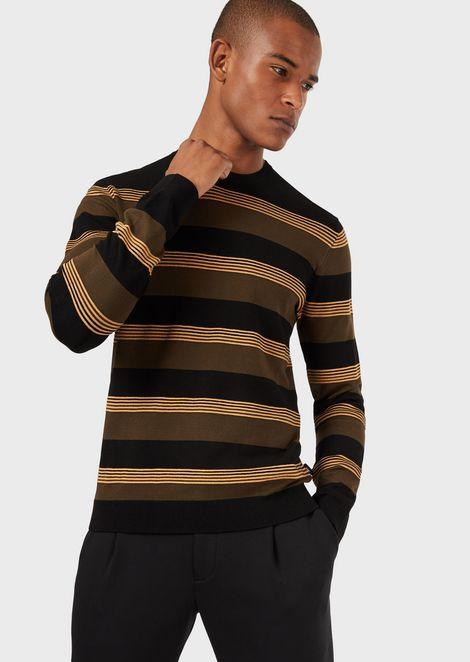 Striped ottoman fabric sweater