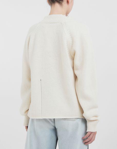 MAISON MARGIELA Destroyed wool sweater V-neck sweater Woman d