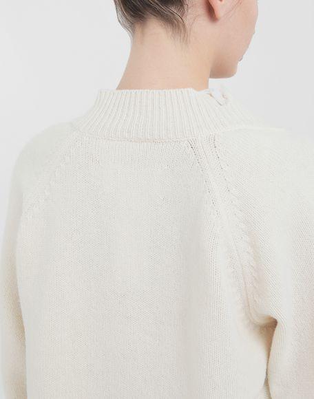 MAISON MARGIELA Destroyed wool sweater V-neck sweater Woman e