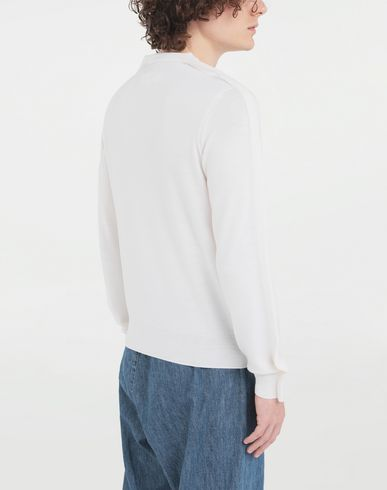 KNITWEAR Outline wool sweater Ivory