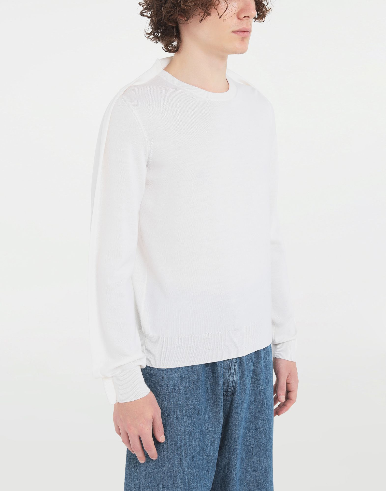 MAISON MARGIELA Outline wool sweater Crewneck Man a